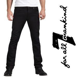 7 FOR ALL MANKIND Jeans SLIMMY Mens 30x28 Blackout